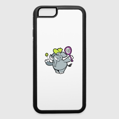 Drawing Cute Funny Cool Elephant Badminton - iPhone 6/6s Rubber Case