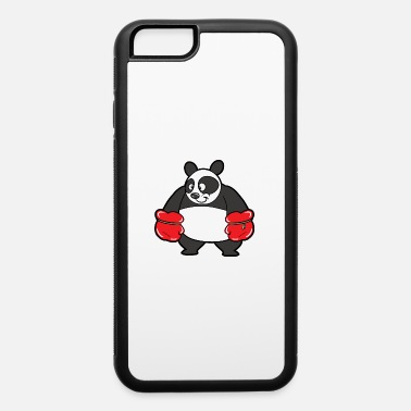 Comic Funny Cool Cute Panda Bear - iPhone 6/6s Rubber Case
