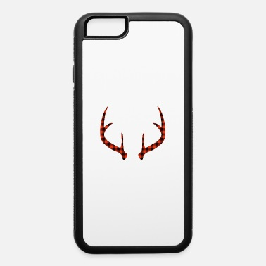 Moose horns antlers deer head reindeer gift christmas - iPhone 6/6s Rubber Case
