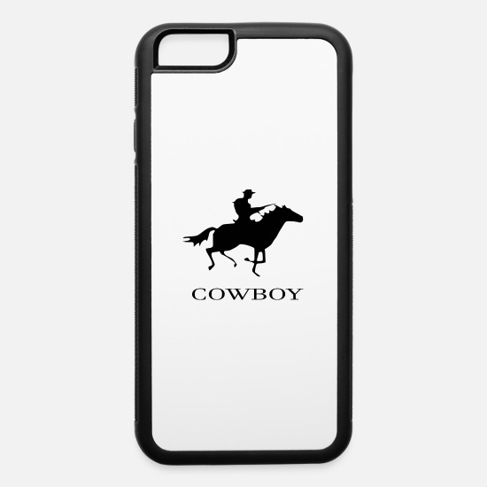 Horse Racing iPhone Cases - cowboy - iPhone 6 Case white/black