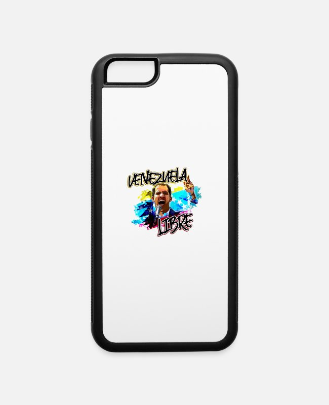 Venezuela iPhone Cases - Juan Guaido Presidente de Venezuela - iPhone 6 Case white/black