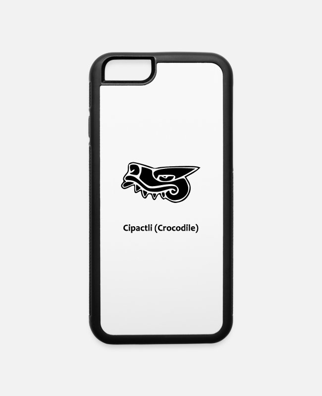 Aztec iPhone Cases - Cipactli Crocodile - iPhone 6 Case white/black