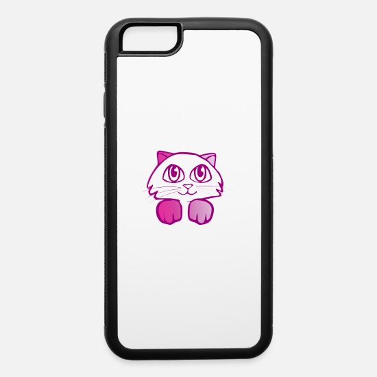Kids iPhone Cases - Cute Kitten - iPhone 6 Case white/black