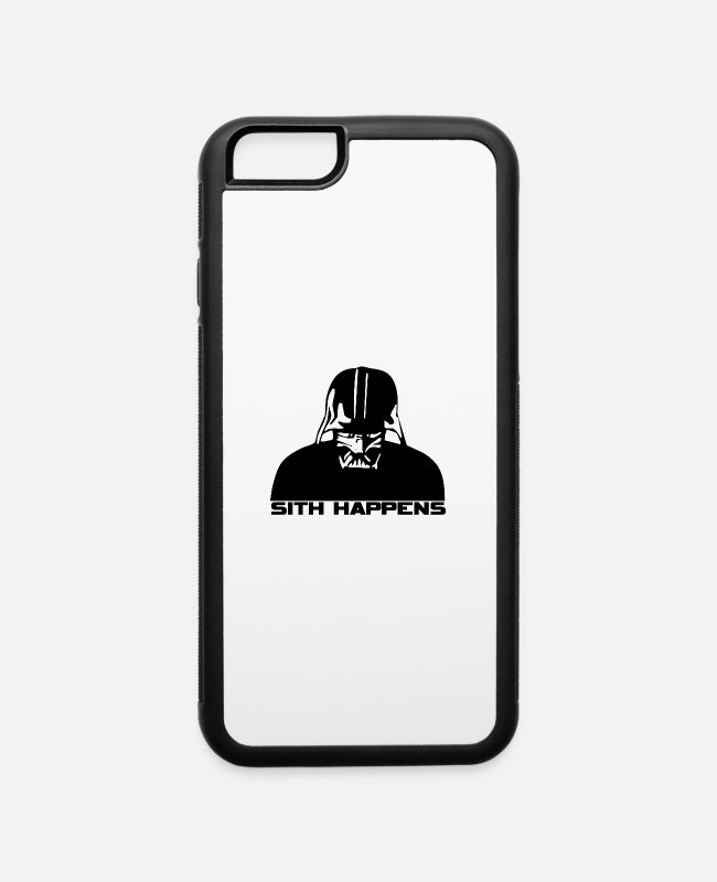 Princess Leia iPhone Cases - Darth Vader - iPhone 6 Case white/black
