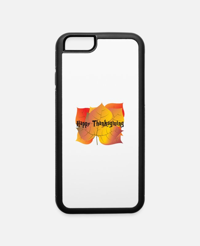 Greeting iPhone Cases - Autumn leaves-Greeting autumn card for Thanksgivin - iPhone 6 Case white/black