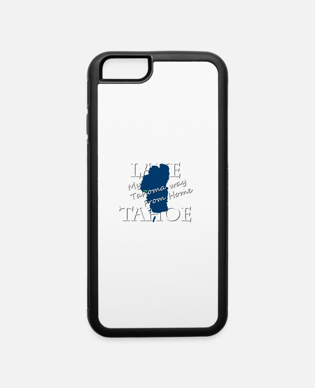 Tahoe Tessie iPhone Cases - My Tahoma way From Home - iPhone 6 Case white/black