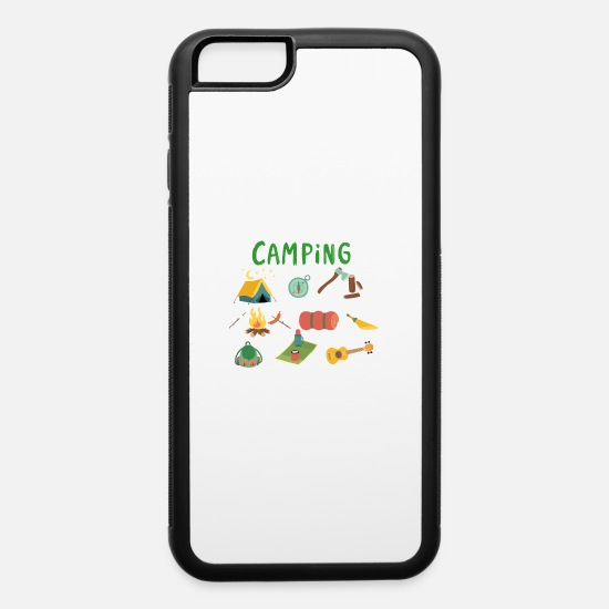 Camping iPhone Cases - Camping Camp - iPhone 6 Case white/black