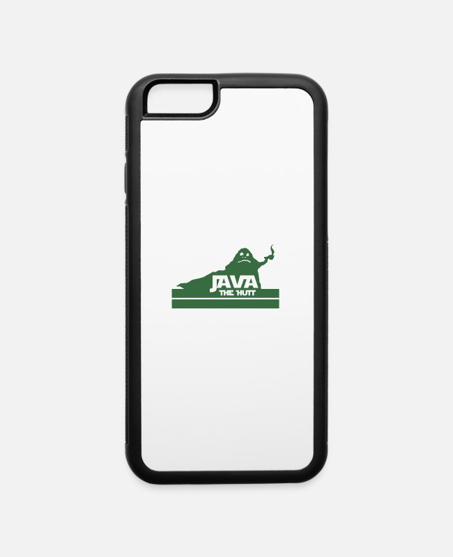 Chewbacca iPhone Cases - Java The Hutt Coffee - iPhone 6 Case white/black
