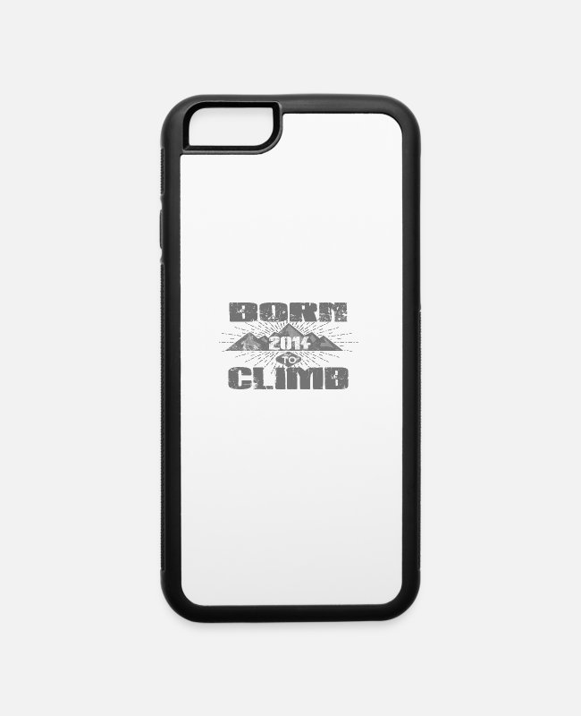 Mountains iPhone Cases - BORN TO CLIMB CLIMBING klettern love 2014 - iPhone 6 Case white/black