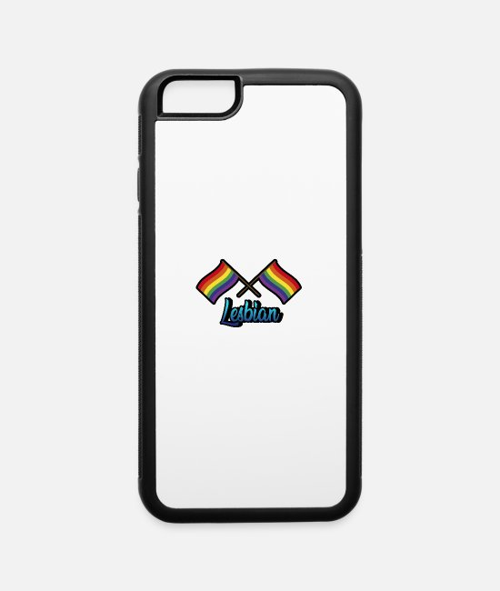 Heart iPhone Cases - Rainbow Lesbian - iPhone 6 Case white/black