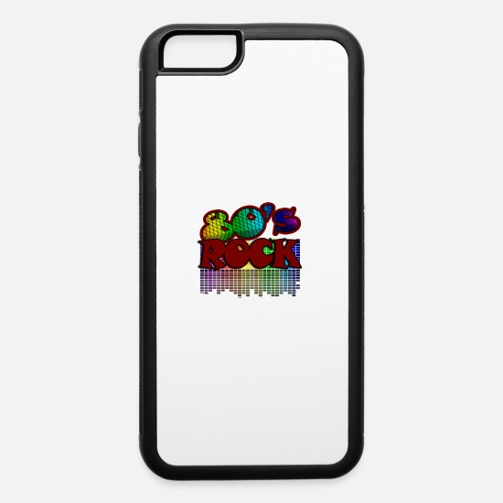 Music iPhone Cases - Funny Concert - 80's Rock - Crowd Stage Fans - iPhone 6 Case white/black
