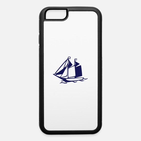 Sailboat iPhone Cases - Sailboat - iPhone 6 Case white/black