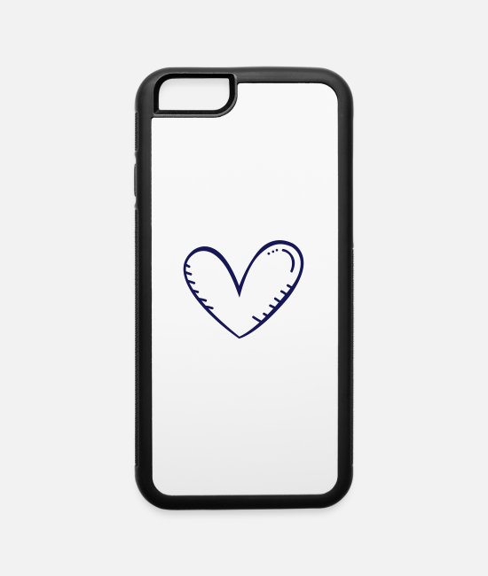 Engagement iPhone Cases - Hand drawn heart - iPhone 6 Case white/black