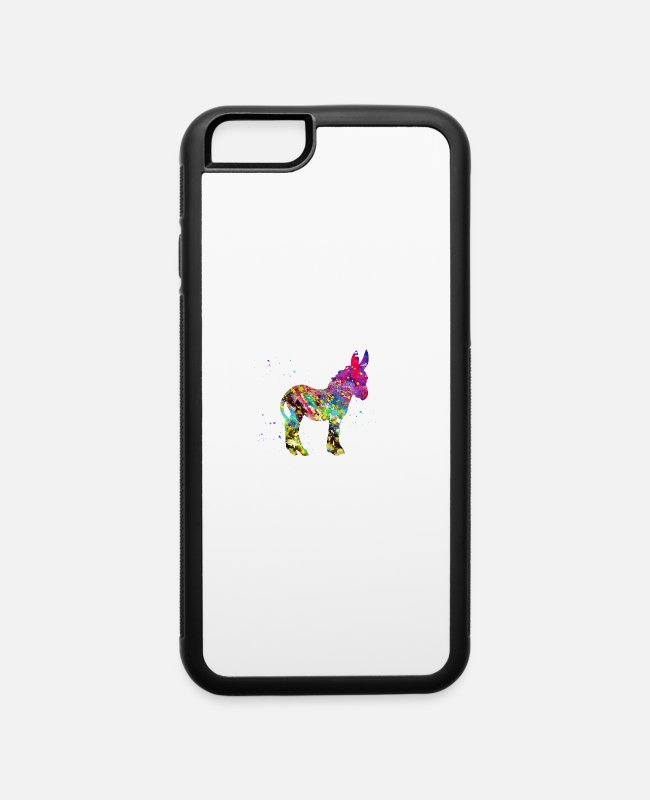Art iPhone Cases - Donkey - iPhone 6 Case white/black
