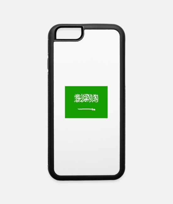 Saudi Arabia iPhone Cases - Saudi Arabia Flag - iPhone 6 Case white/black