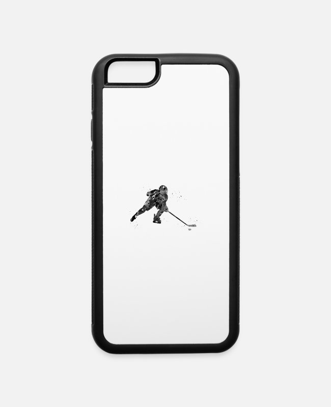 Art iPhone Cases - Hockey player - iPhone 6 Case white/black