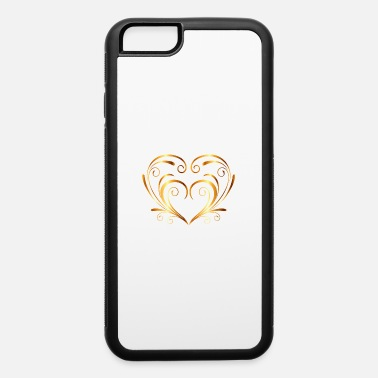 Draw Abstract gold T-Shirt love golden heart fun image - iPhone 6 Case