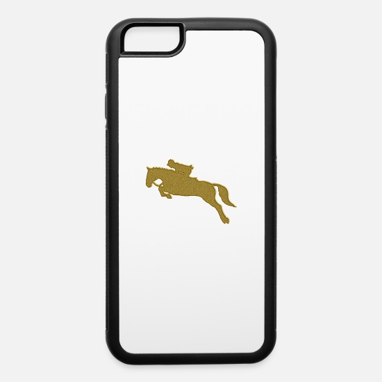 Show Jumping iPhone Cases - Golden Riding - iPhone 6 Case white/black