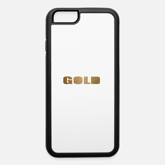 Gold iPhone Cases - GOLD - iPhone 6 Case white/black
