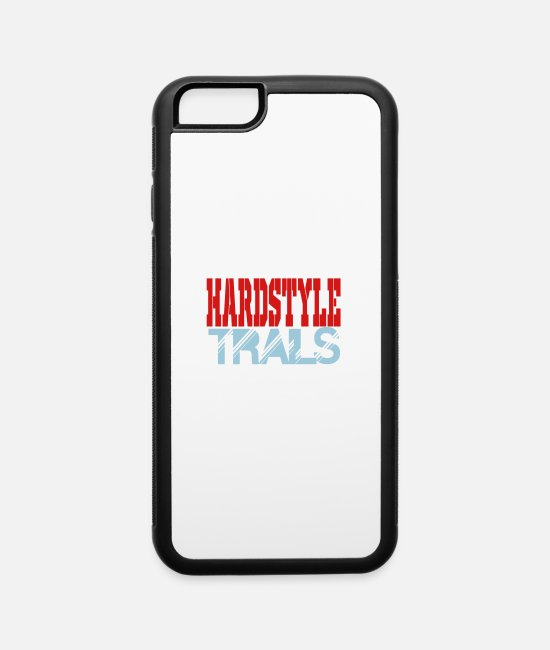 Bass iPhone Cases - hardstyle trails - iPhone 6 Case white/black