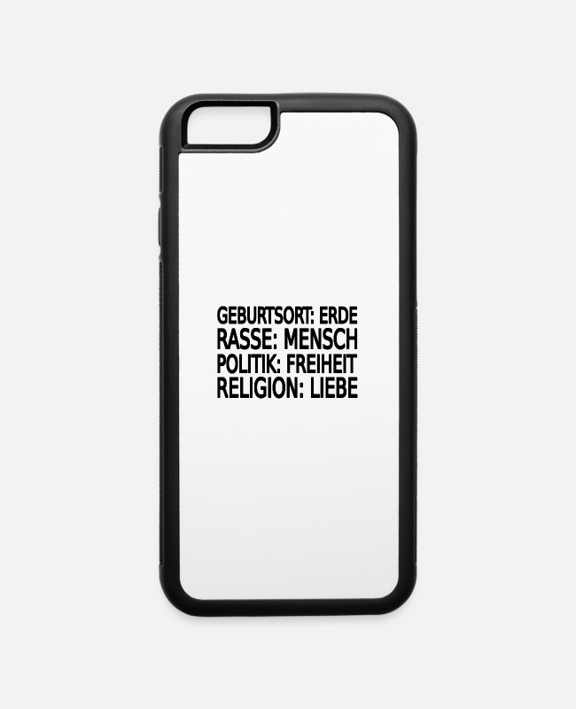 Justice (authority) iPhone Cases - Stop racism - iPhone 6 Case white/black