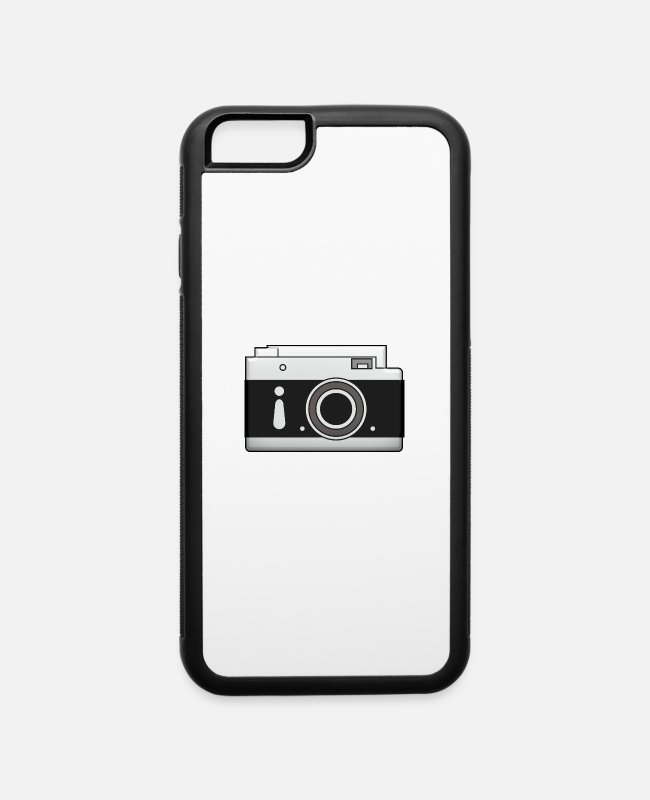 Photography iPhone Cases - camera vintage polaroid movie camera photography - iPhone 6 Case white/black