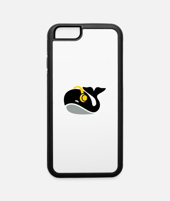 Headphones iPhone Cases - Whale headphones - iPhone 6 Case white/black
