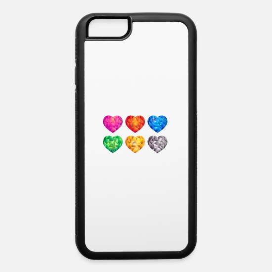 Collections iPhone Cases - Heart Collection - iPhone 6 Case white/black