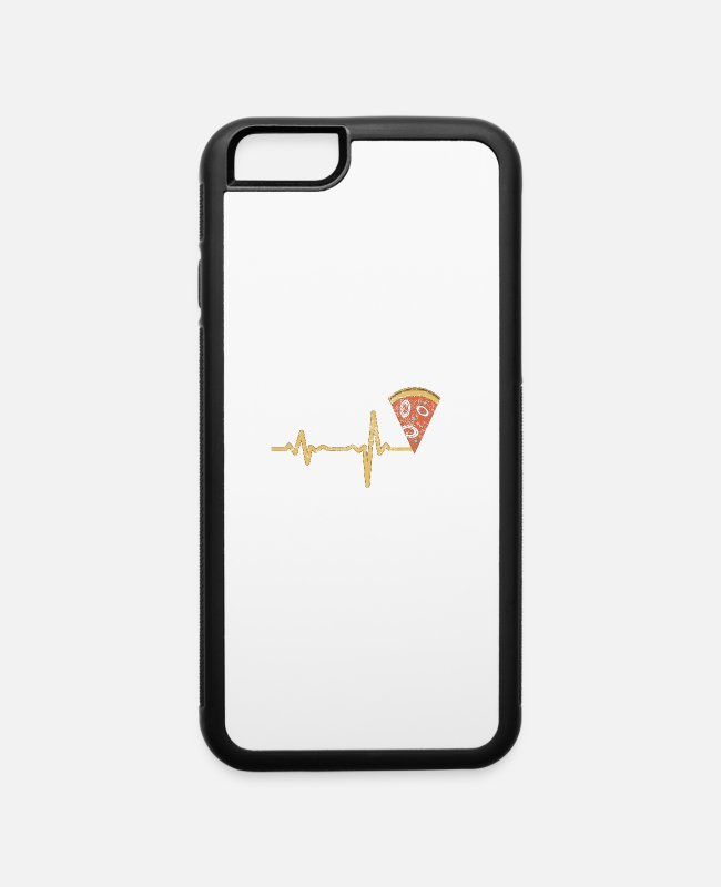 Pizza iPhone Cases - gift heartbeat pizza - iPhone 6 Case white/black