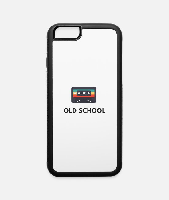 Valantine iPhone Cases - old school casette , old music - iPhone 6 Case white/black