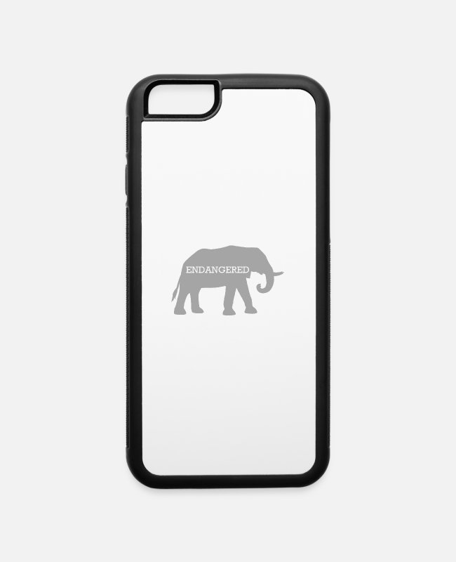 Animal Welfare iPhone Cases - Grey Endangered Elephant - iPhone 6 Case white/black