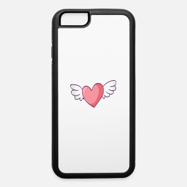 Heart With Wings Heart Wings, Heart, Cute, Girl, Women, Wings - iPhone 6/6s Rubber Case