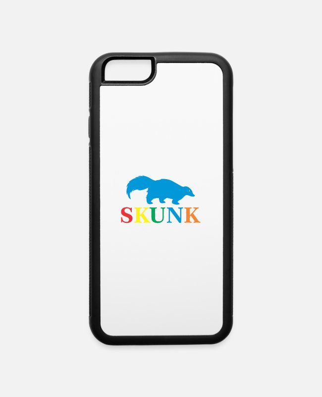Stinker iPhone Cases - colored skunk - iPhone 6 Case white/black