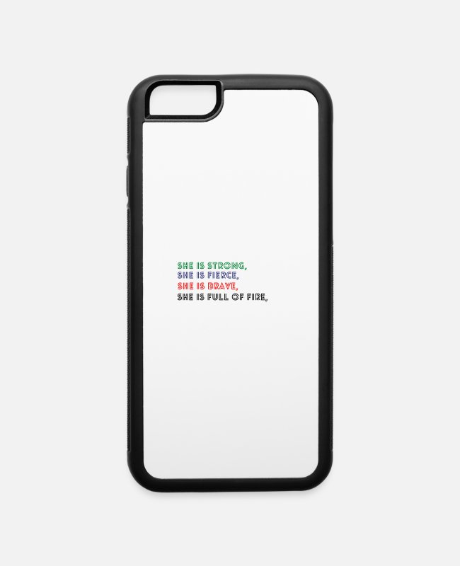 Brave Full Of iPhone Cases - empowered women empower women - iPhone 6 Case white/black