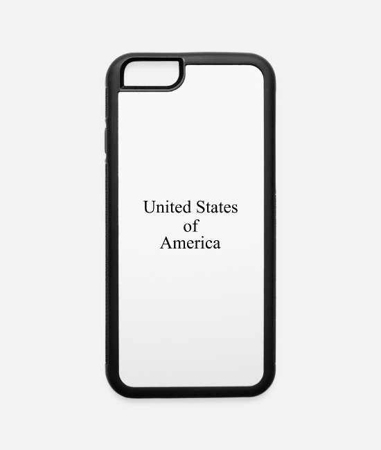 Usa iPhone Cases - Text: United States of America (black) - iPhone 6 Case white/black