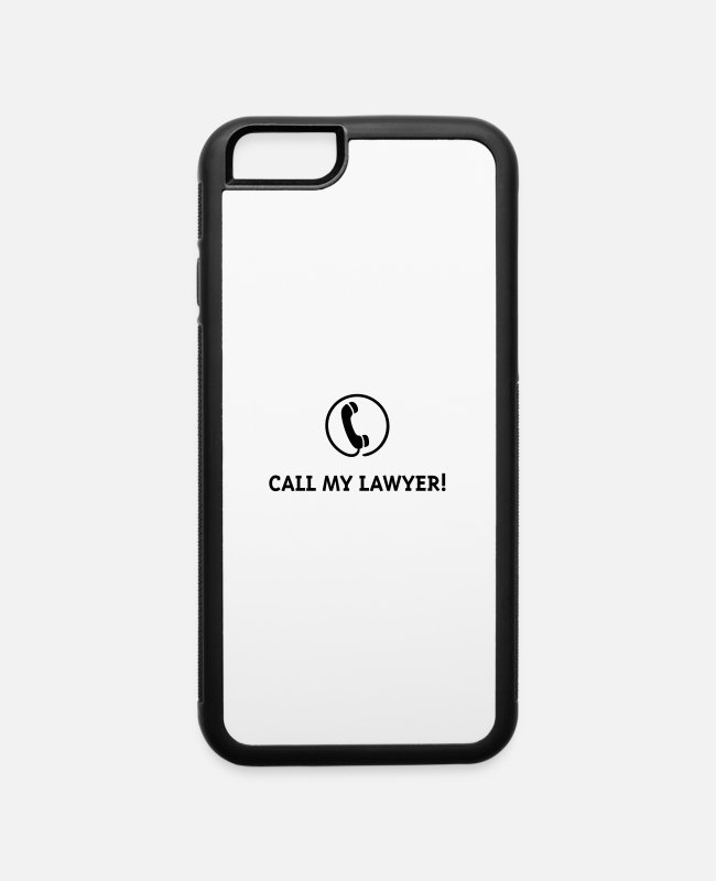 Prisoner iPhone Cases - Call My Lawyer! - iPhone 6 Case white/black
