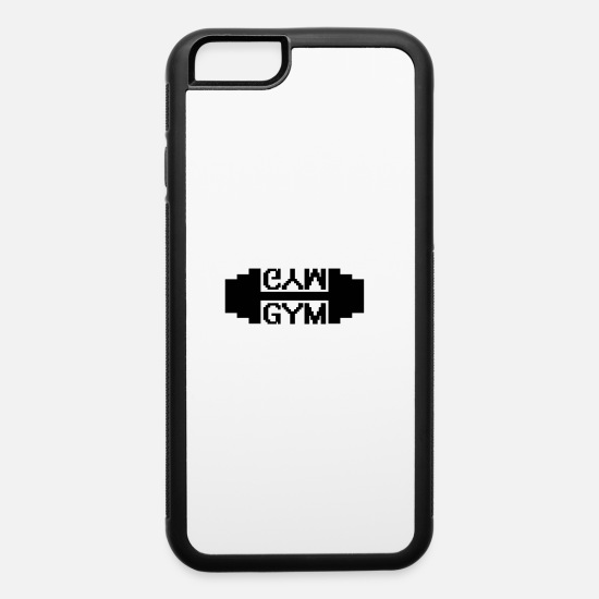 Dumbbell iPhone Cases - Gym vector - iPhone 6 Case white/black