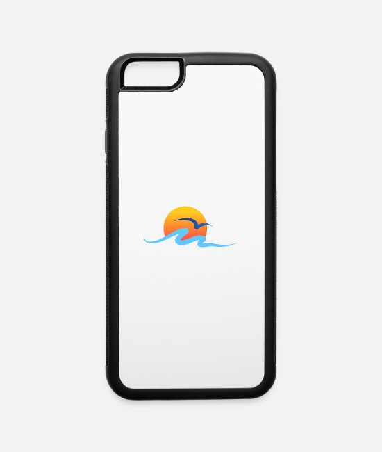 Water iPhone Cases - Summer - Wave - Design - Water - Vacation - iPhone 6 Case white/black