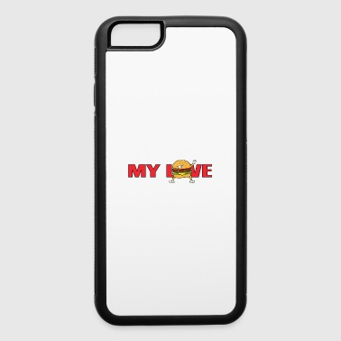 My Love Fast Food Dabbing Dab Burger Cheeseburger - iPhone 6/6s Rubber Case