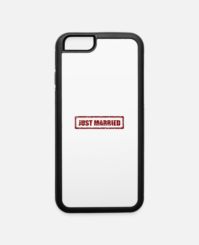 Programmemer iPhone Cases - JUST MARRIED! - iPhone 6 Case white/black