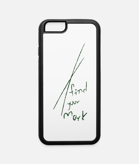 Wanderlust iPhone Cases - Your Mark - iPhone 6 Case white/black
