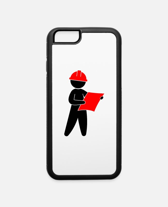 Architect iPhone Cases - An Engineer At A Construction Site - iPhone 6 Case white/black