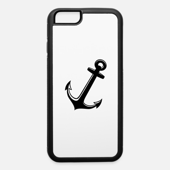 Nautical iPhone Cases - White anchor coast sea - iPhone 6 Case white/black