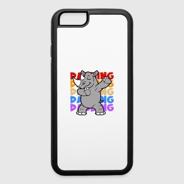 Circus Retro Vintage Pop Art Style Dabbing Dab Rhinoceros - iPhone 6/6s Rubber Case