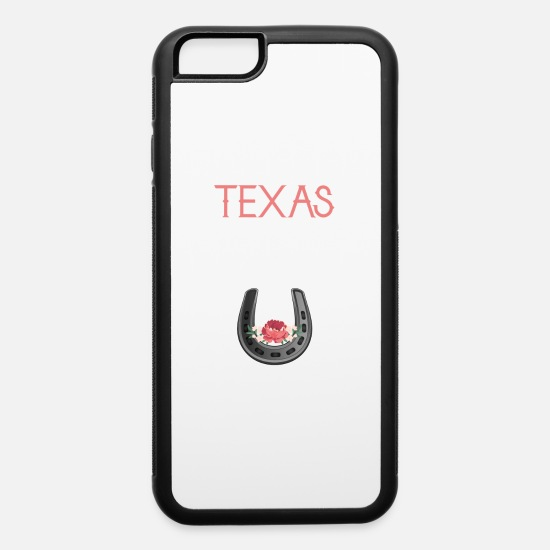 Flowers iPhone Cases - Texas state - iPhone 6 Case white/black