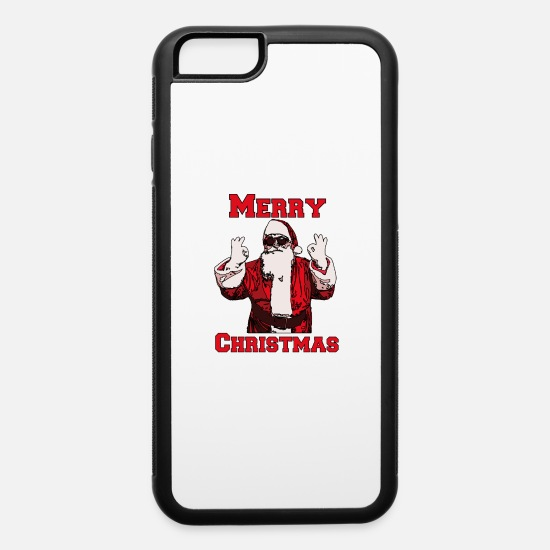 Religious iPhone Cases - A Real Santa - iPhone 6 Case white/black