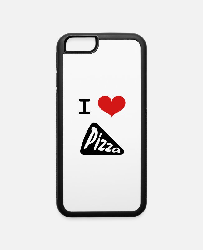 Pizza iPhone Cases - I Love Pizza 🍕 - iPhone 6 Case white/black