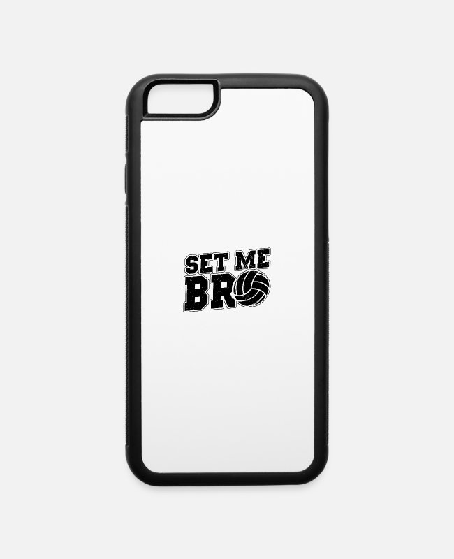 Beach Volleyball iPhone Cases - Volleyball Sayings | Player Trainer Team Gift - iPhone 6 Case white/black