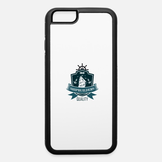 Motor iPhone Cases - Shipbuilders motor and marine 51 F - iPhone 6 Case white/black