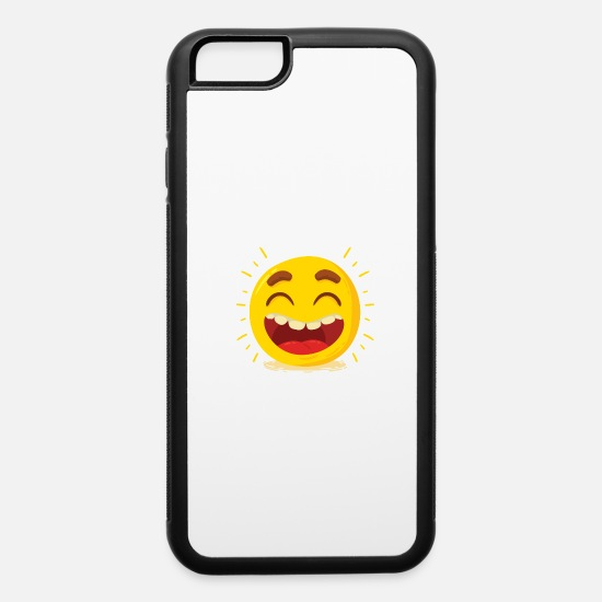 Face iPhone Cases - funny and music 3 F - iPhone 6 Case white/black